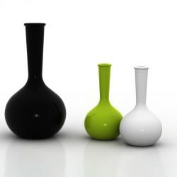 Chemistubes area Vase Vondom black 65