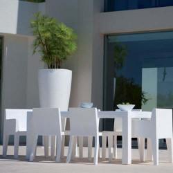 JUT Vondom rectangular de la Mesa 180 mesa blanco
