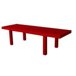 Jut Mesa 280 Tisch rechteckig Vondom rot