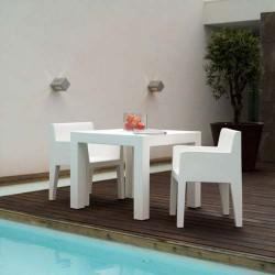 Jut Mesa 90 Table high Vondom white