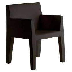 Jut solco nero sedia Vondom