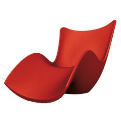 Surf Tumbona sunbathing Vondom Red