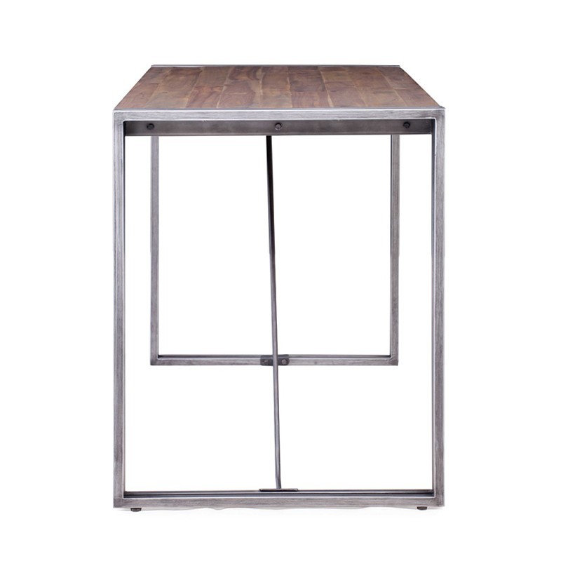 kleiner tisch holz und metall 140 x 60 kosyform. Black Bedroom Furniture Sets. Home Design Ideas