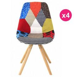 Satz von 4 Lounge Stühle multicolor Patchwork KosyForm