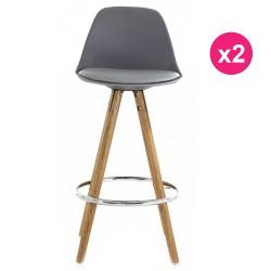 Satz von 2 Stühlen Arbeitsplan graue Eiche KosyForm Basis