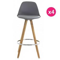 Satz von 4 Stühlen Arbeitsplan graue Eiche KosyForm Basis