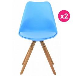 Satz von 2 Stühlen blau Eiche KosyForm Basis