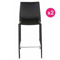2er Set Stühle boreal schwarz Arbeit planen KosyForm