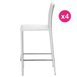 Satz von 4 Stühlen weiß KosyForm Work Plan