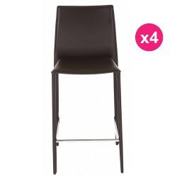 Satz von 4 Stühlen Schokolade KosyForm Werk Plan