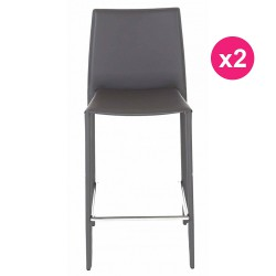 Satz von 2 Stühlen Arbeitsplan grau KosyForm
