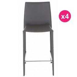 Satz von 4 Stühlen Arbeitsplan grau KosyForm