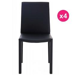 Lot de 4 Chaises Design Noire KosyForm