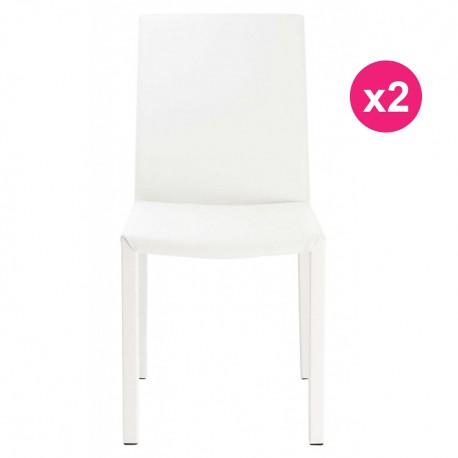 Lot de 2 Chaises Design Blanche KosyForm