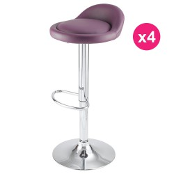 Set of 4 Violet KosyForm Bar stools