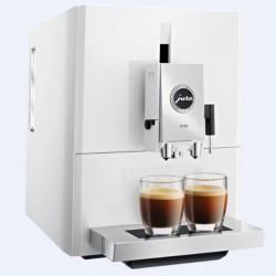 Espresso Maschine mit Mahlwerk Jura A7 Klavier weiß