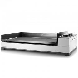 Plancha Forge Adour Premium G75 3 Gasbrenner 9000 W weiß Stahl und emaillierte gusseiserne Platte