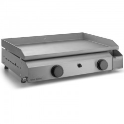 Plancha gas Forge Adour 2 burners 6400 W 60 cm box and plate Inox Base