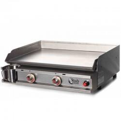 Plancha Tonio 2 Lichter Box und Platte aus rostfreiem Stahl gas