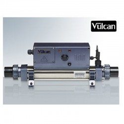 Vulcan heater analog titanium 12kW sort above ground pool and buried