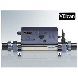 Vulcan heater analog titanium 15kW sort above ground pool and buried
