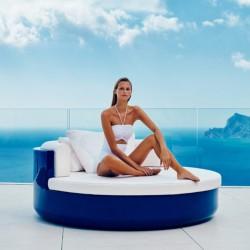 Zum Sonnenbaden ULM Vondom Liege Sofa blau lackiert