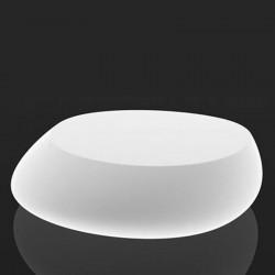 Niedrige Tischleuchte Stone Vondom weiß