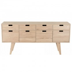 Sideboard in oak 4 doors 4 drawers Puper KosyForm