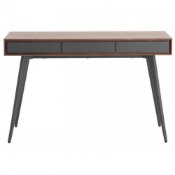 Console plate walnut and lacquered gray 3 drawers Isa KosyForm