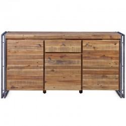 Holz und Metall 3 Türen 1 Schublade Mega KosyForm mit Buffet