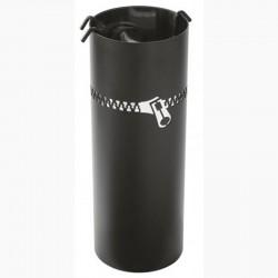 Diener Lightning schwarz mattiert Edelstahl mit schwarzen Accessoires Dixneuf Design