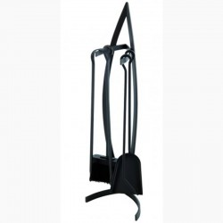 Servant canoe black frosted with accessories black Dixneuf Design