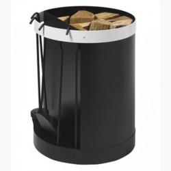 Diener und Lagerung in Holz Magnum frosted Design in schwarz und weiß Dixneuf