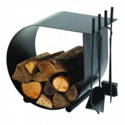 Diener und Caracol schwarz Log Rack bereift Dixneuf Design
