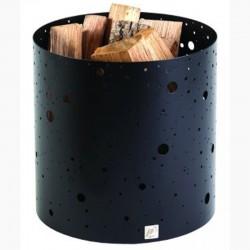 Rangement à Bois Voie Lactée Noir Givré Dixneuf Design