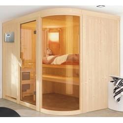 Sauna a vapor angular tradicional finlandês 2-4 lugares Ulla Prestige - exclusivo VerySpas