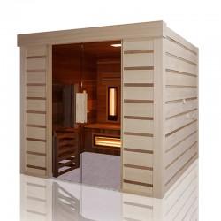 Traditionelle Sauna Hybrid Combi Holl Zugang für Behinderte