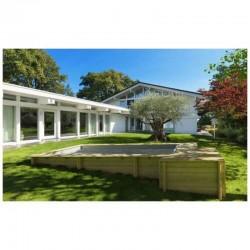 Piscine Urbaine Procopi en Bois 420 x 350 x H 133 Couverture Automatique Coffre et Fitration