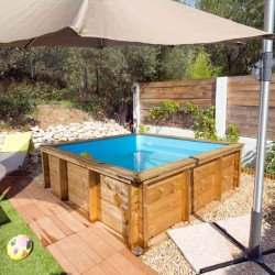 Piscinette Procopi wooden tropic junior 200 x 200 cm
