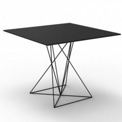 Tabelle FAZ Vondom schwarzer Edelstahlsockel lackiert 70x70xH72