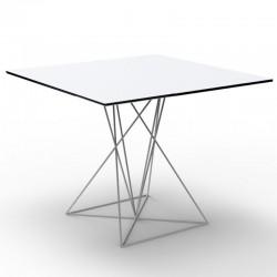 Tabelle FAZ Vondom weißer Edelstahl lackiert 70x70xH72