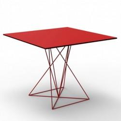 Tabelle FAZ Vondom Edelstahl rote 100x100xH72