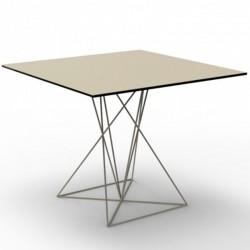 Tabelle FAZ Vondom inox Ecru 100x100xH72