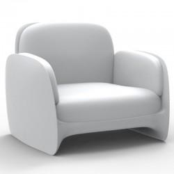 كرسي بذراعين Vondom صالة Pezzettina الأبيض حصيره
