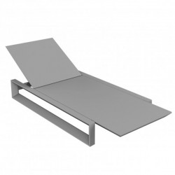 Deckchair long frame Vondom grey steel mat
