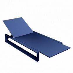 Deckchair telaio lungo VONDOM blu Mat