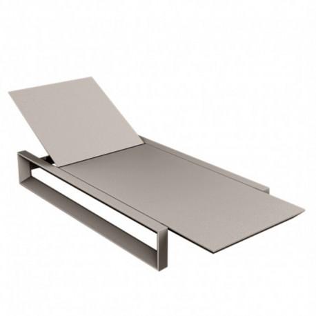 Lounger frame long Chair Vondom taupe Matt