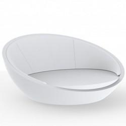 Ulm daybed Round Shell VONDOM bianco SILVERTEX 210x200xH97