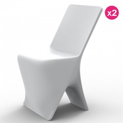 Lot de 2 Chaises Vondom Design Sloo Blanc