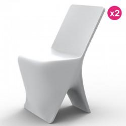 Set von 2 Stühlen Vondom Design Sloo weiß